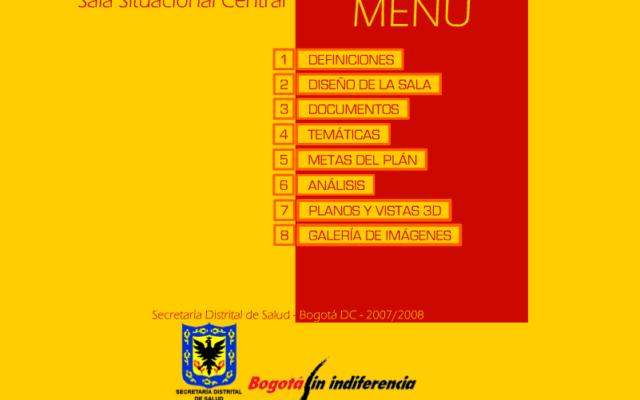 Sala Situacional de Salud de Bogota<br>{  Infrastructure Project }