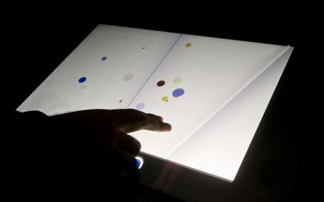 Sounding Score<br>{ Musical interactive installation }<br>by Alba Fernanda Triana